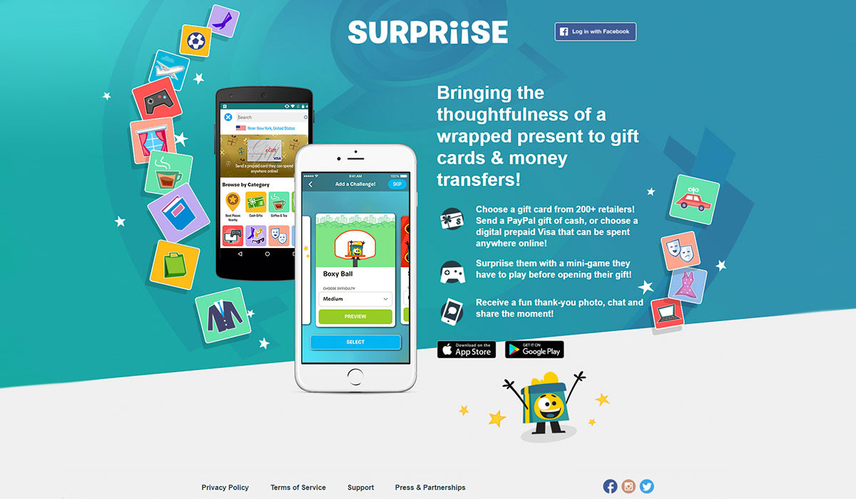 Surpriise Home Page Design